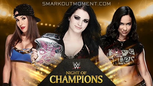 WWE Night of Champions 2014 Paige vs Nikki Bella vs Brie Bella vs AJ Lee