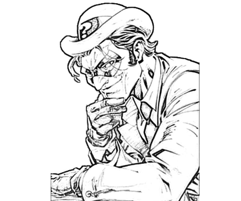 batman-arkham -city-riddler-smirk-coloring-pages