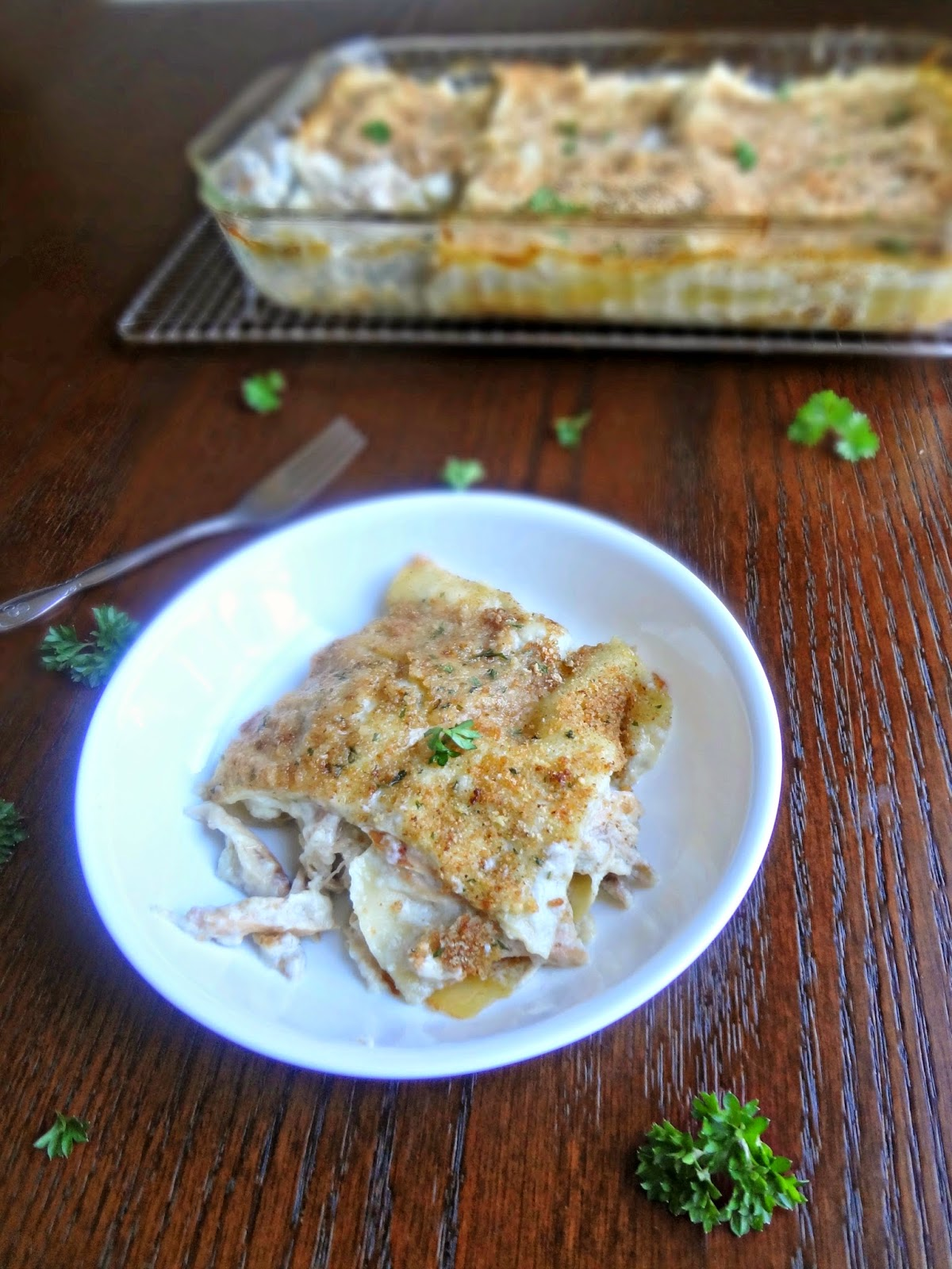 Chicken And Roasted Garlic Lasagna Recipe — Dishmaps