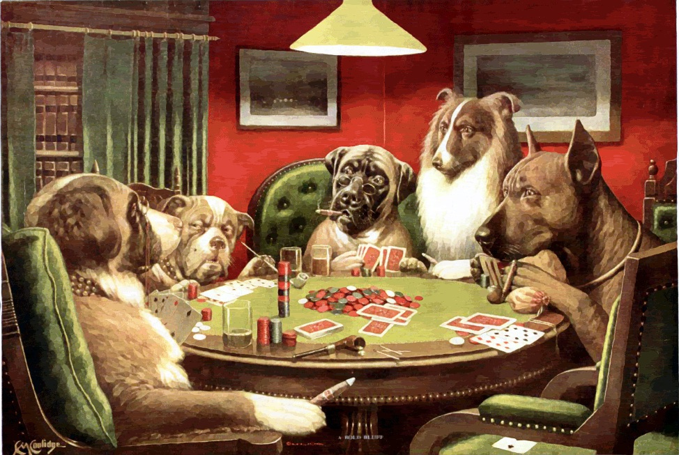 Dogs playing poker images free