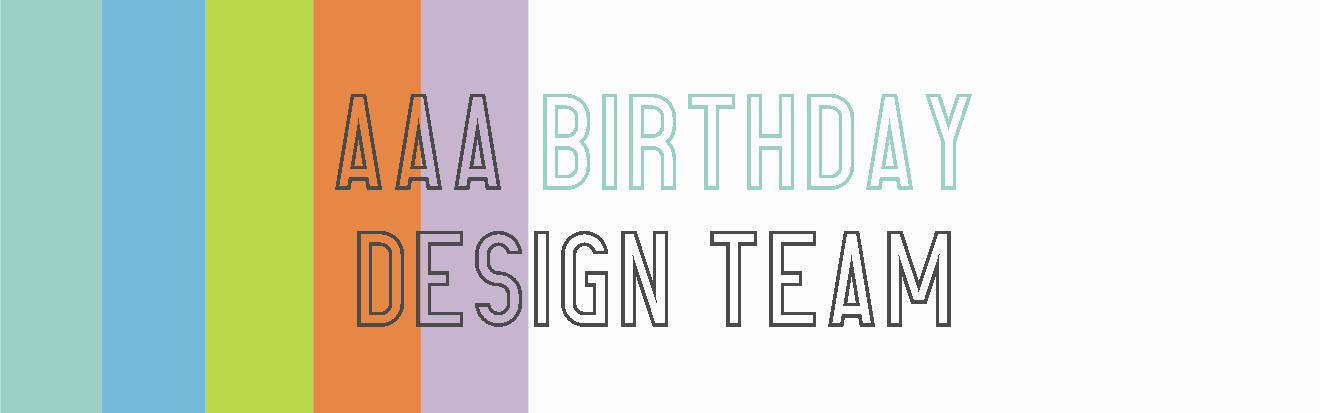 ♥ Ich bin im Designteam bei AAA Birthday Challenges ♥