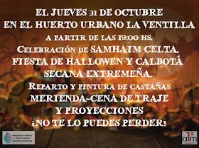 Samhaim celta, fiesta de Hallowen y calbotá