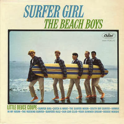"The Beach Boys ""Surfer Girl"" Album Cover"