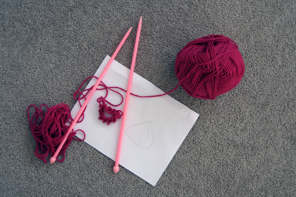 Drawing Knitting Needles : Eat your heart out baby drawing knitting