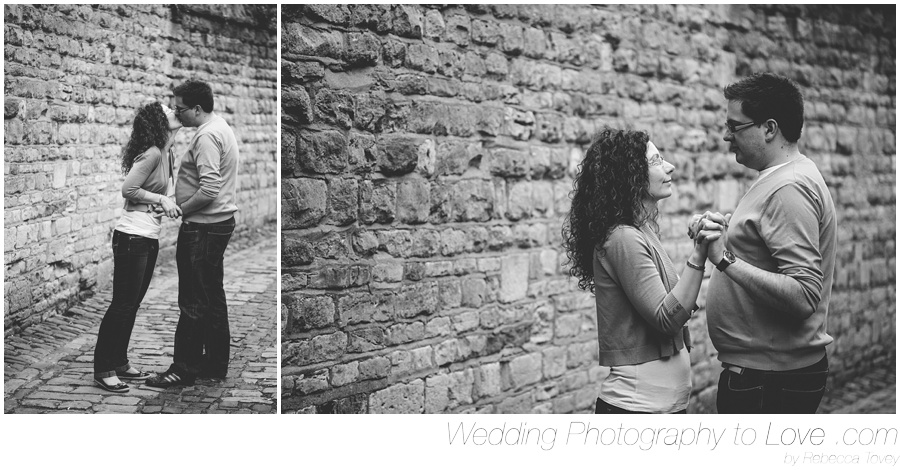 romantic photos on a cobbled street