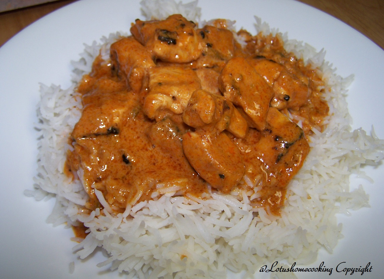 An easy recipe for Chicken Tikka Masala Chicken marinated in yogurt ...