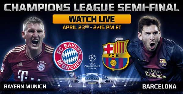 Keputusan Bayern Munich vs Barcelona 24 April 2013 - Champions League Semi-Final
