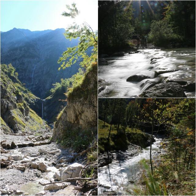Bilder auf den Weg zur Siebenhütten Wolfsschlucht mit Wasserfall
