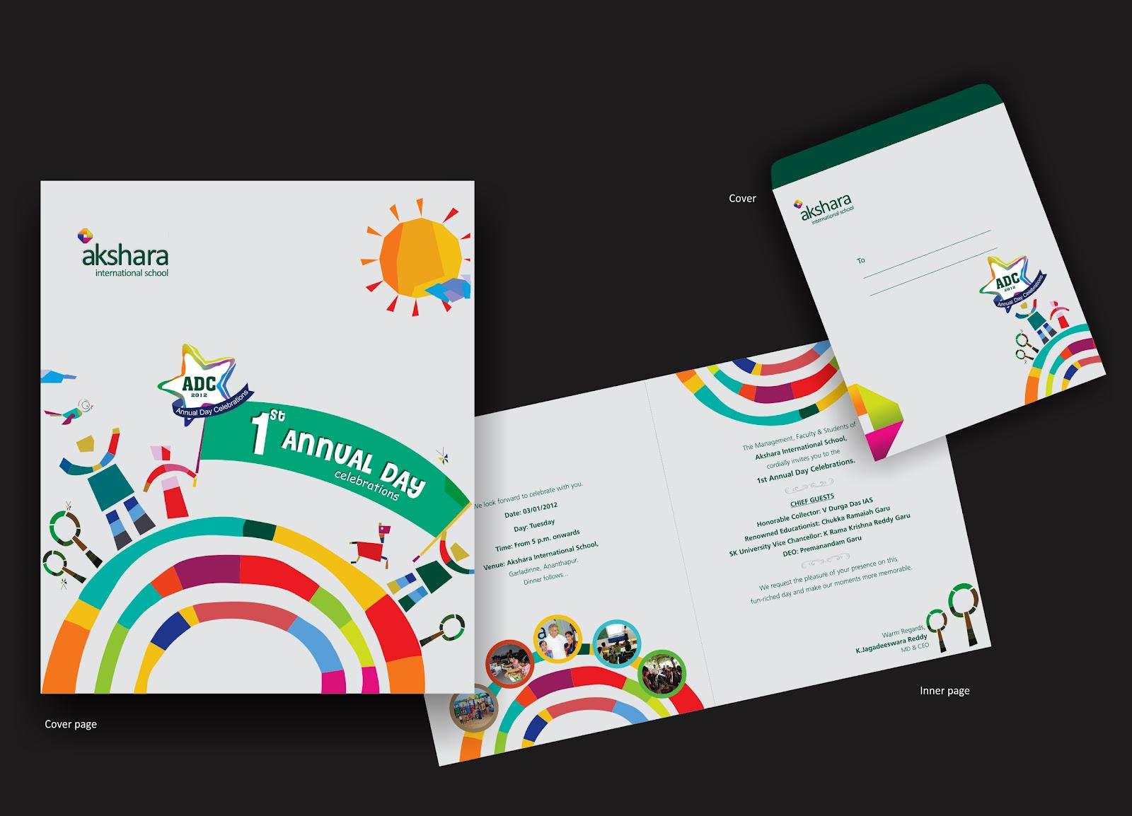 thought process Akshara International school Annual Day Invitation