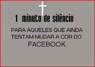 Um minuto de silêncio...