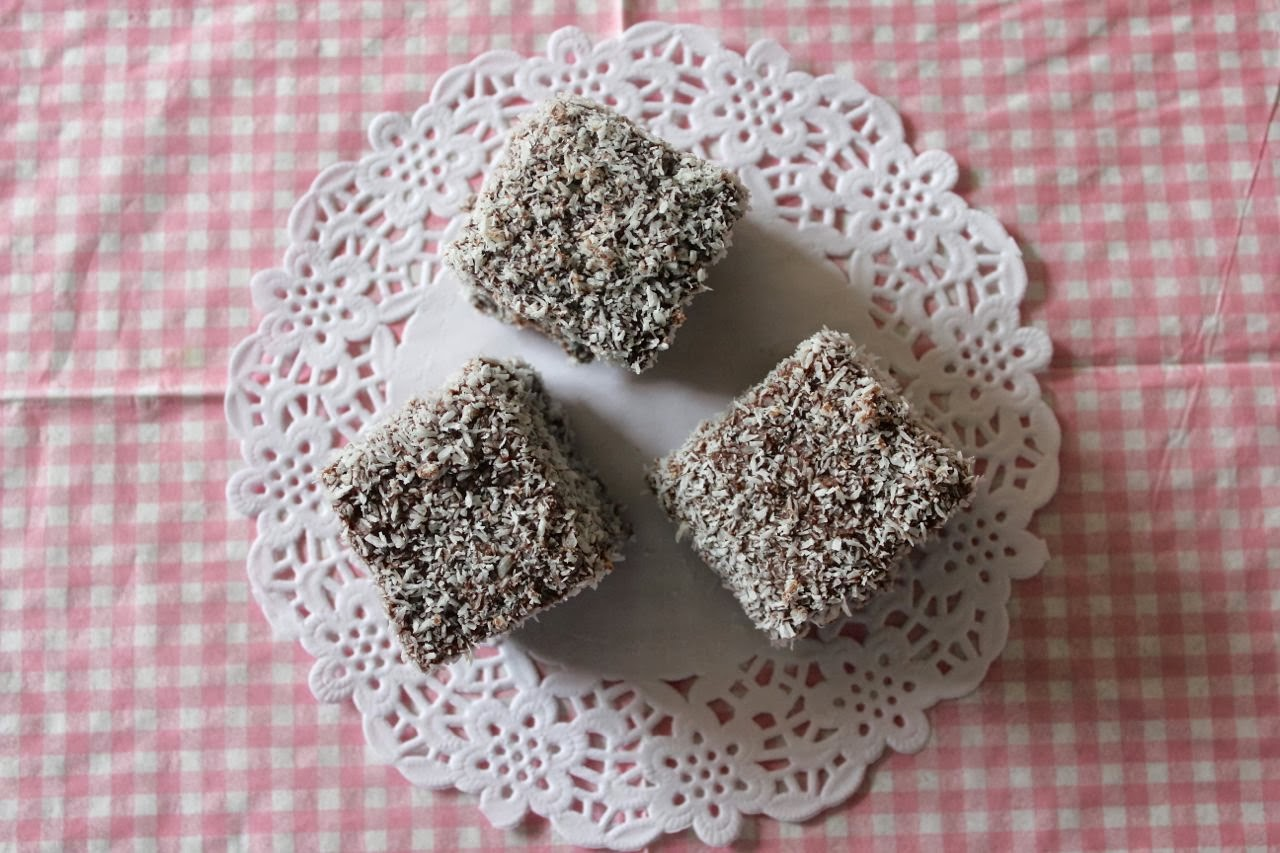 In which I try and veganise classic Aussie lamingtons with a touch of ...