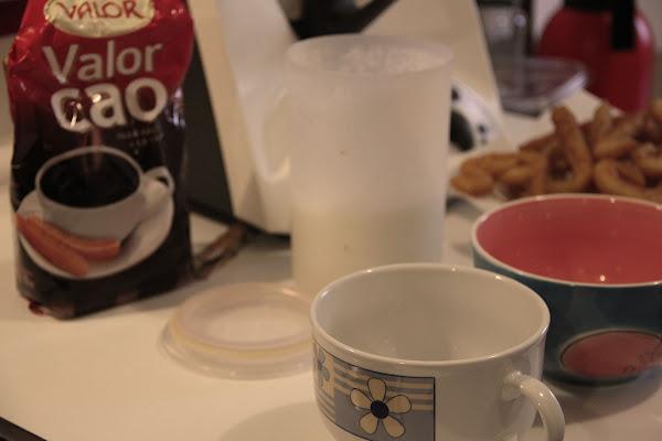 Elaboracion de la receta de chocolate a la taza