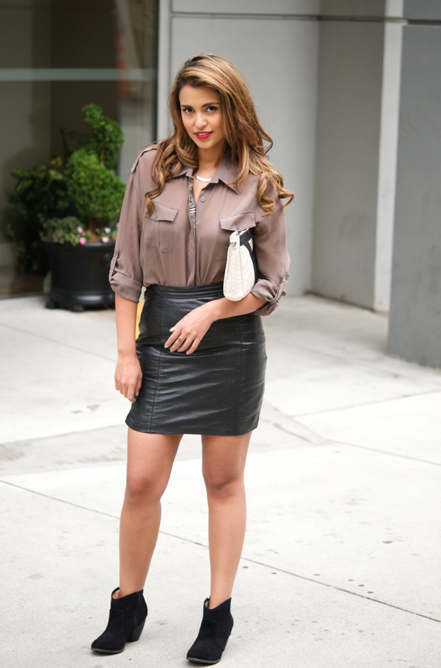 Vintage Leather Skirt | Gumboot Glam | A Vancouver Based Fashion ...