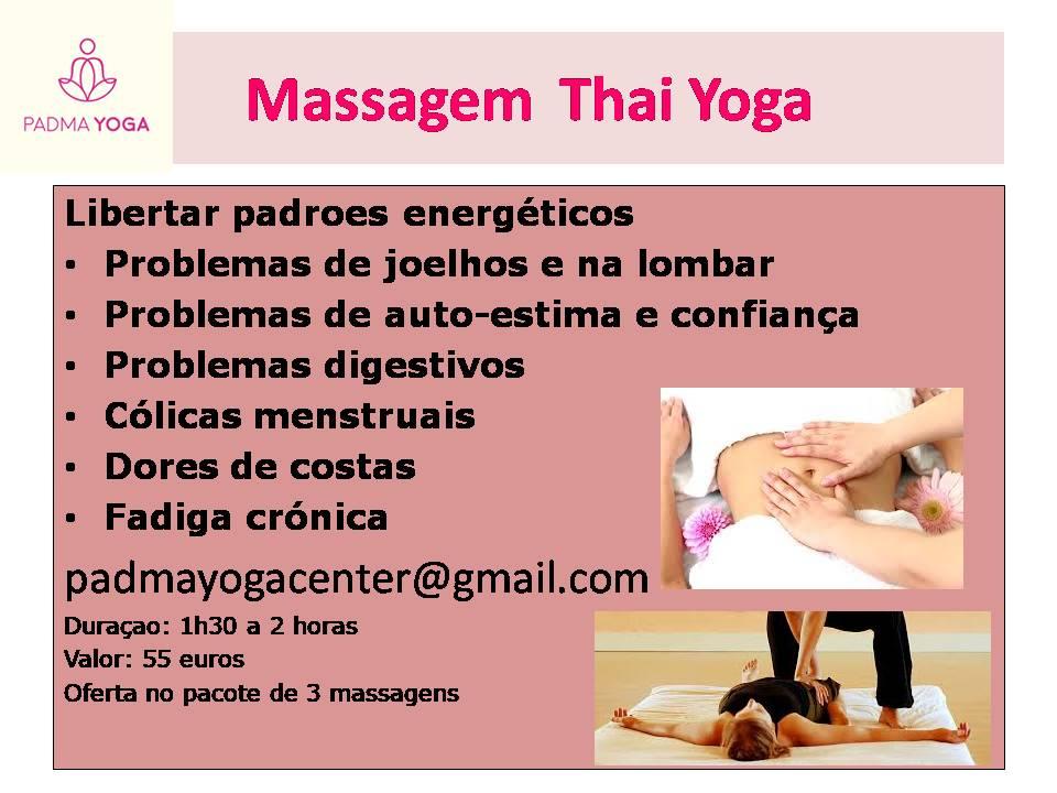 Massagem Thai Yoga- Alterar padroes energéticos