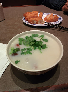 Duck Congee and Chinese Donut