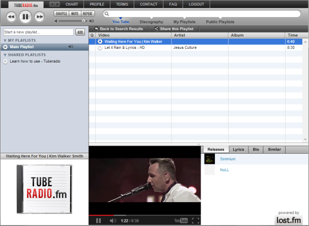Tuberadio.fm convierte YouTube en un reproductor de Música.