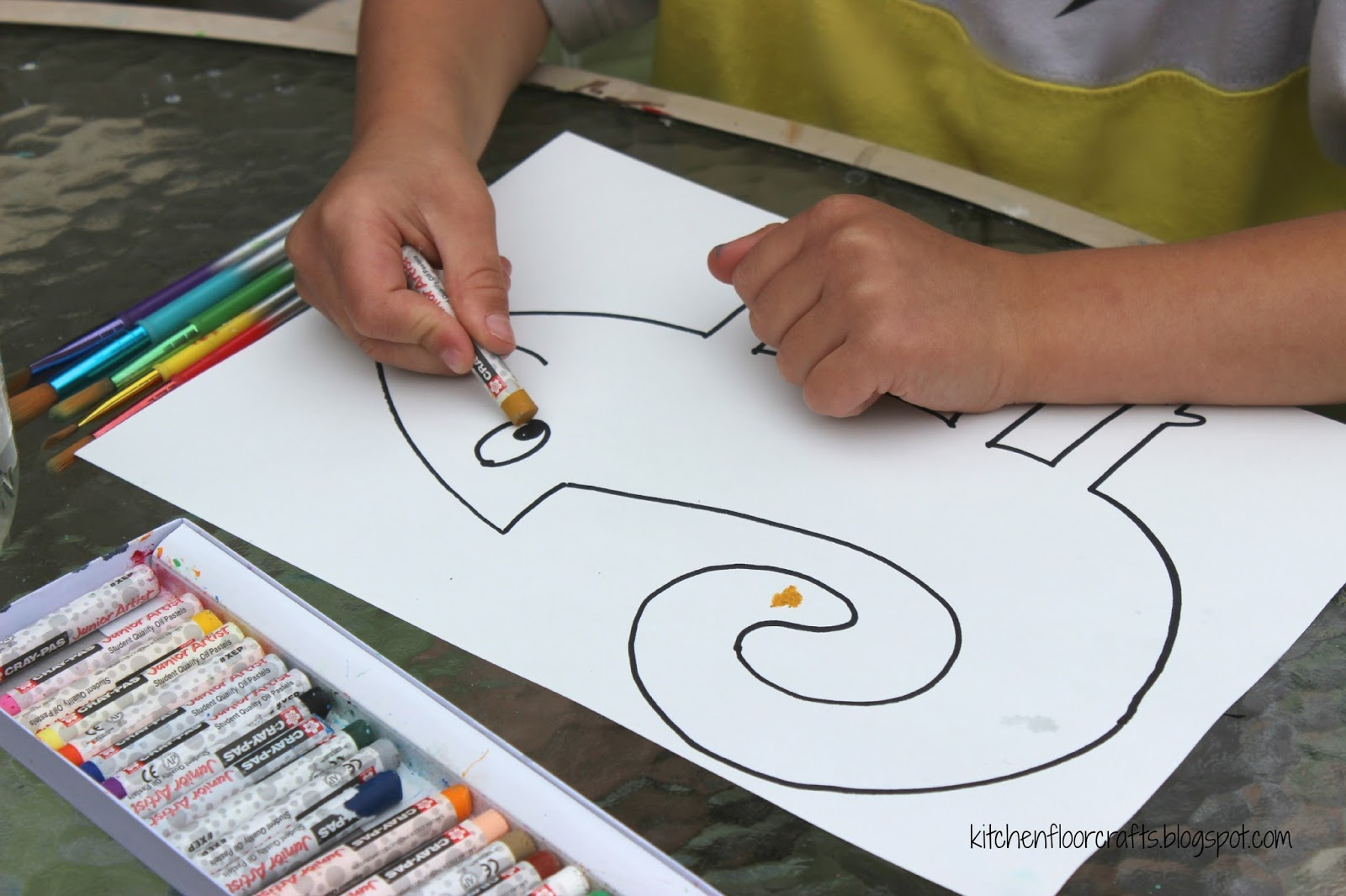 a color of his own coloring page - kitchen floor crafts a color of his own chameleon