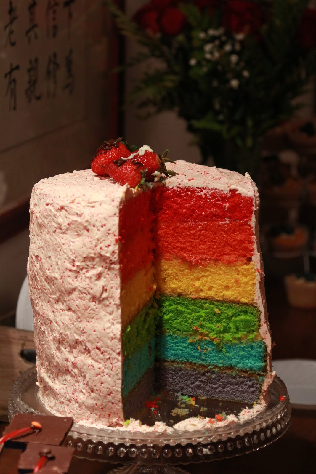 ~My Fun Rainbow Cake!~