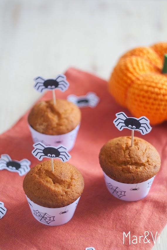 Ricetta muffins alla zucca con scaricabili gratuiti per Halloween