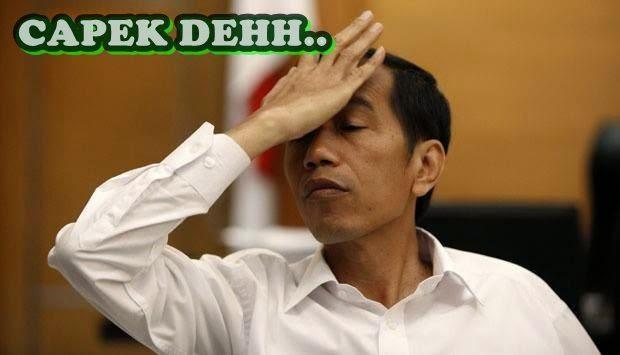 Gambar Meme Jokowi Galau Politik Lucu DP PP BBM Kabinet Trisakti Koplak