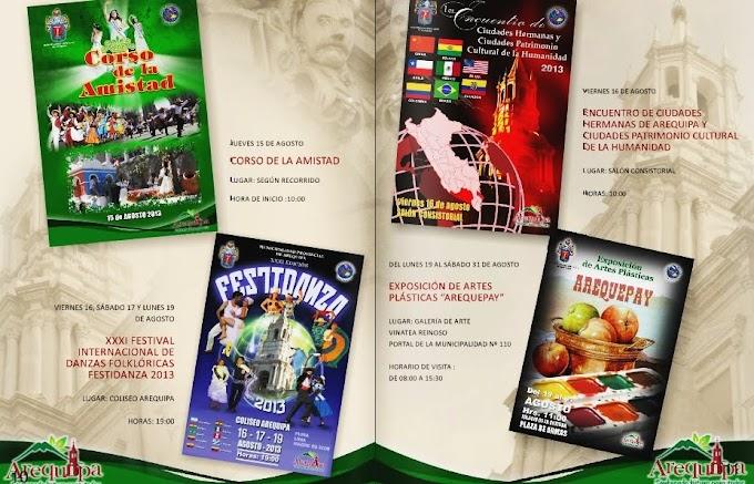 Programa de Festejos 473 Aniversario de Arequipa - I parte (agosto)