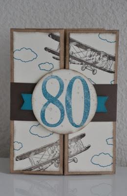 kreativ mit liebe karte zum 80 geburtstag. Black Bedroom Furniture Sets. Home Design Ideas