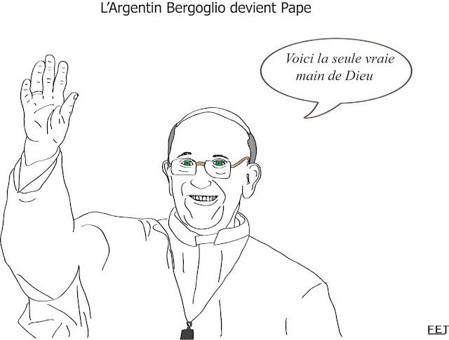 François 1er est le nouveau pape fej dessin
