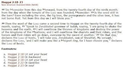 Haggai 2:18-23