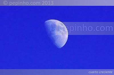 Ese cuarto creciente hoy ya es luna llena.