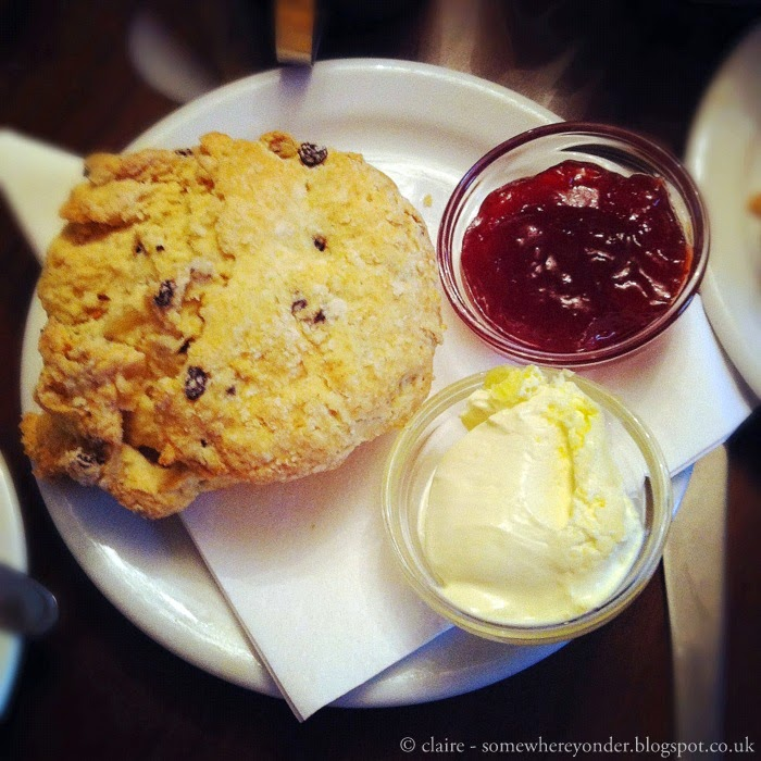 Whitby afternoon tea - scones with jam and clotted cream