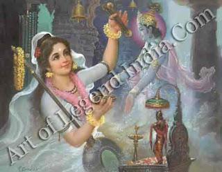 Mirabai With Krishna