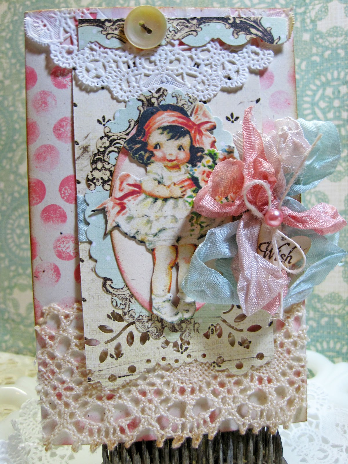 Daddy Asked For A Card To Give Mom On The Same Day I Got This Little Cutie In Mail Thought It Must Be Sign Shes Vintage Place
