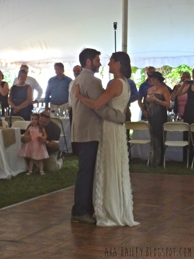 Geoff and Abby dancing their first dance as a married couple
