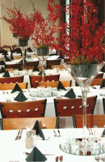 Wedding Decorations, Red Centerpieces and Arrangements 3