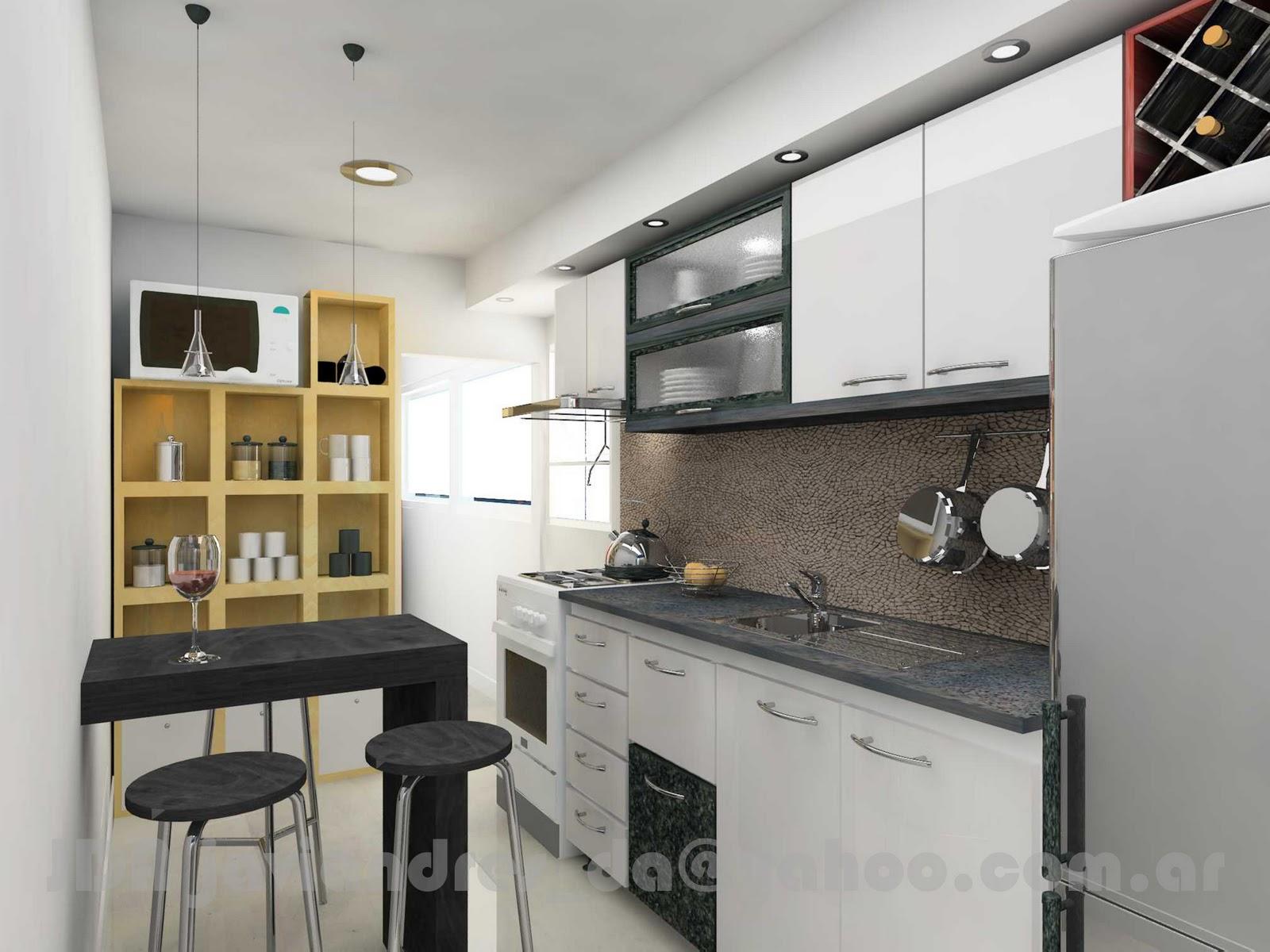 Arquitec maquetas remodelaci n de cocina dise o 3d for Diseno de muebles 3d