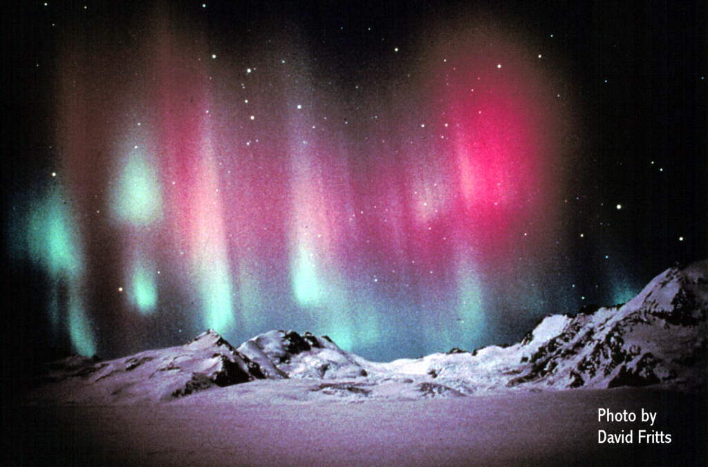 Northern and Southern Lights Aurora