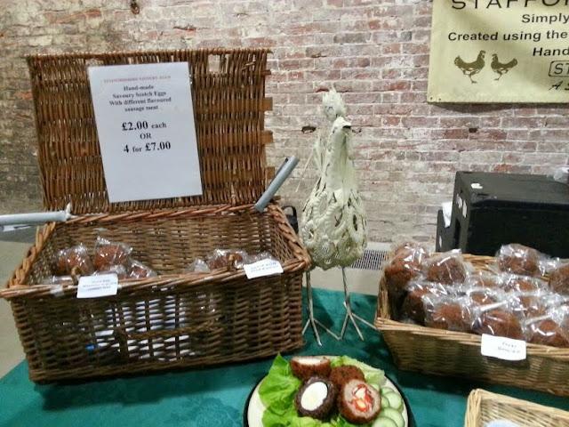 Eggs on display at Calke Abbey Fine Food Fair