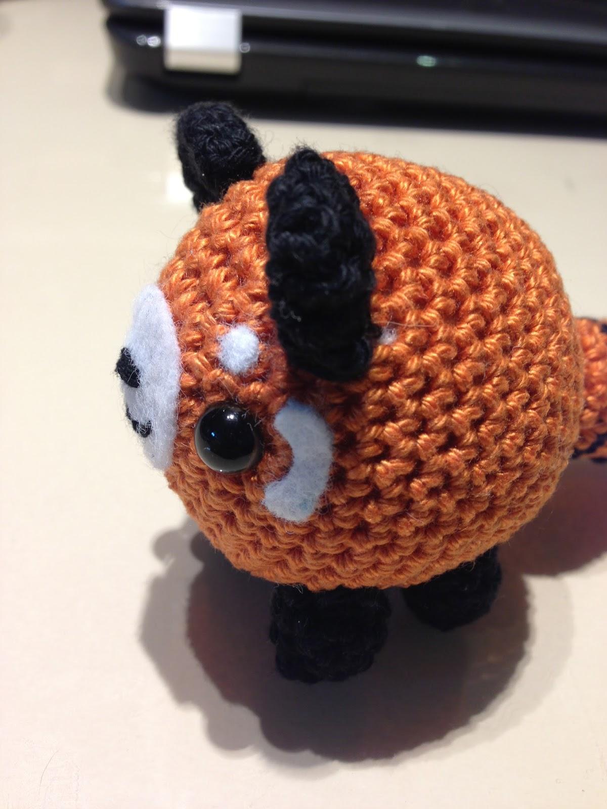 Amigurumi Panda Patroon : Doni handmade: Red panda amigurumi pattern