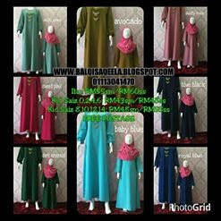 JUBAH KIDS DAN MOM SEDONDON