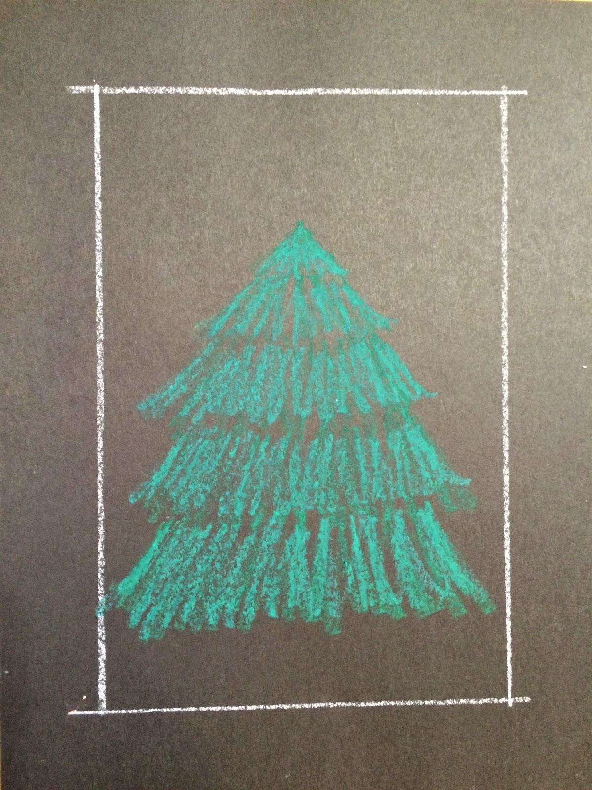 kathys angelnik designs art project ideas - Christmas Tree Art