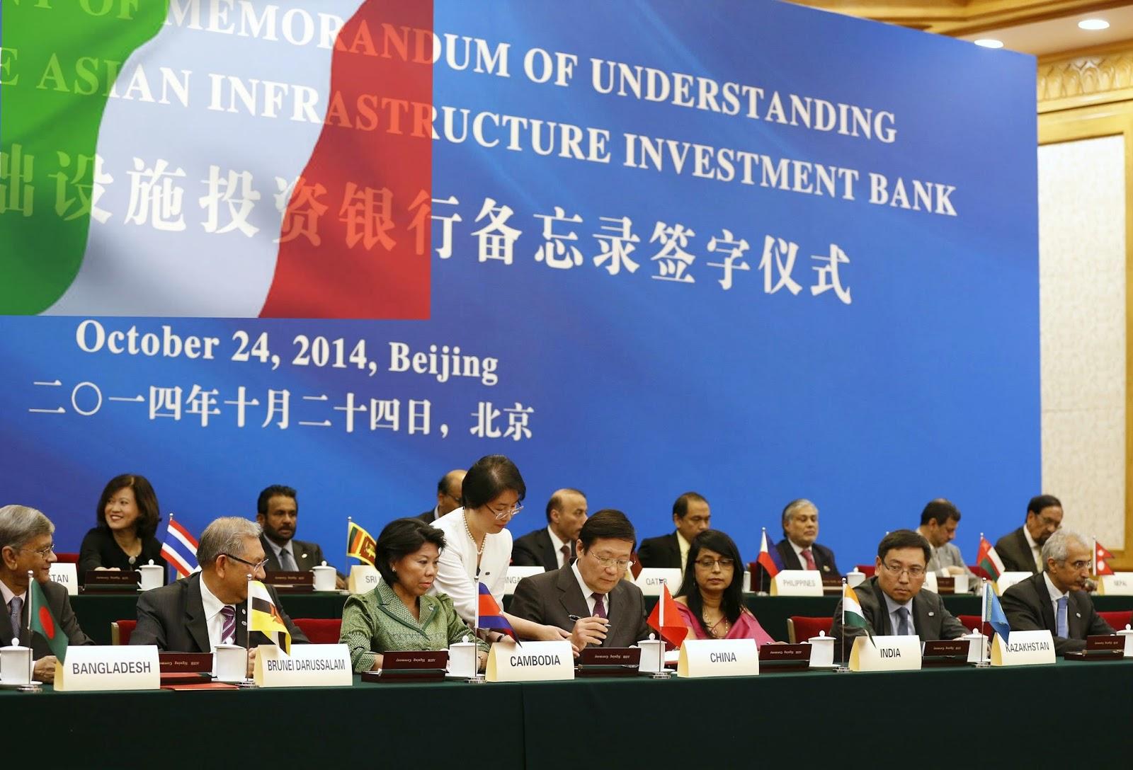 L'Italia entra nella Aiib, la banca cinese: cosa succede ora