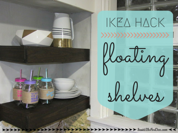 Ikea hack floating shelves