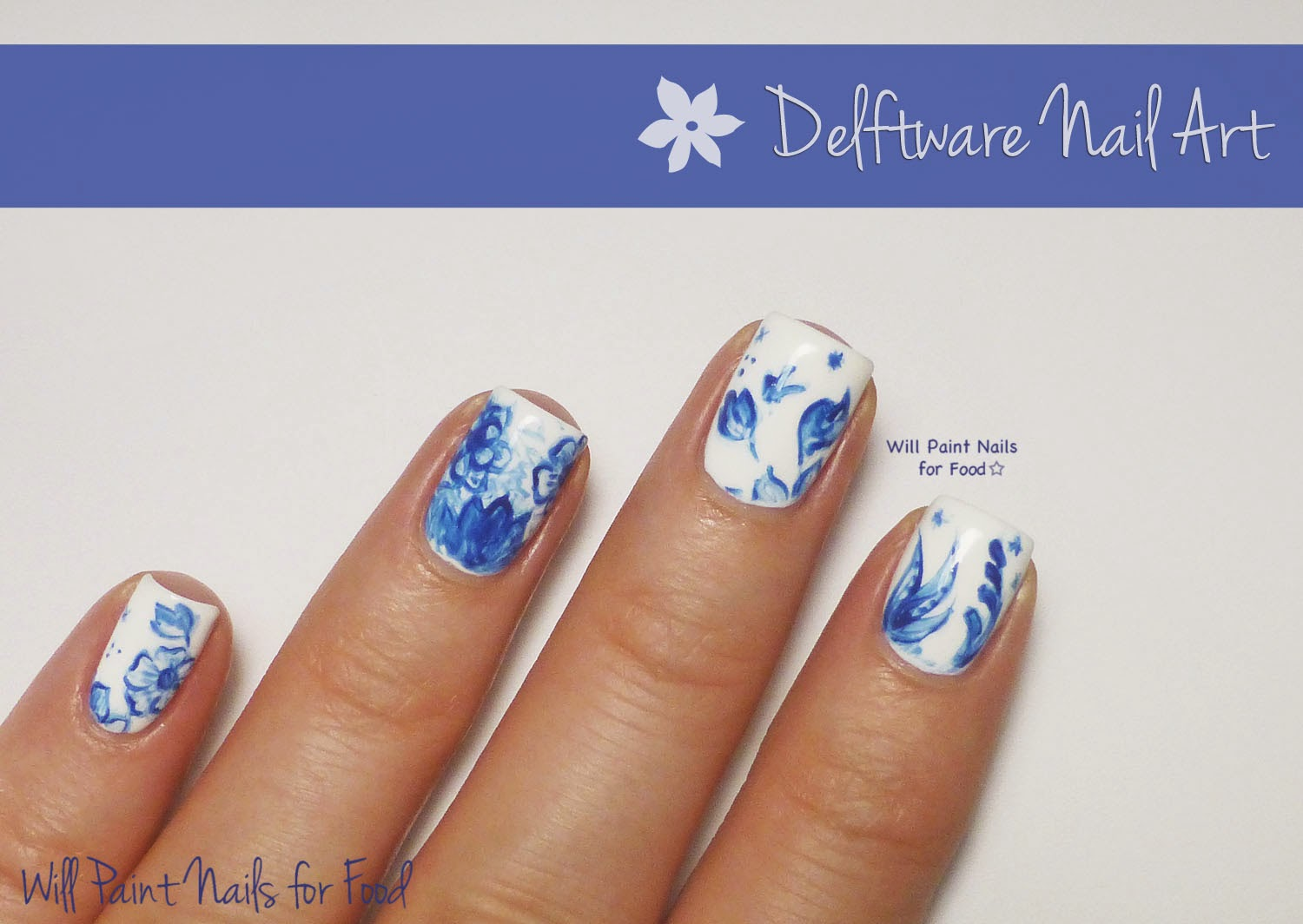 Delftware nail art