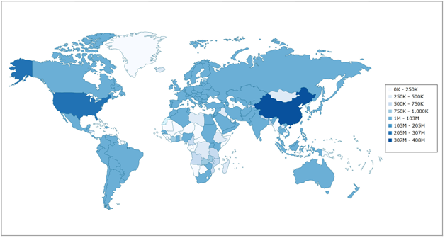 Statistics And Information World Internet Usage Facts - World internet usage map