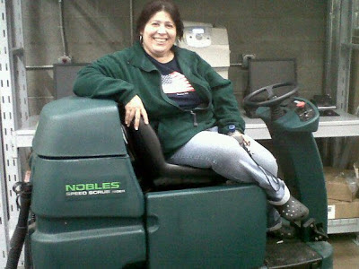 Diana smiles as she prepares to clean the floors at Wal-Mart one more time.  NTCC has no retirement plan for the ministers who labor out in the field.  What will you do when NTCC is done using you?