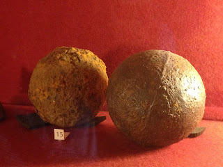 Quebec House cannon balls