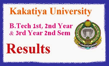 Kakatiya Univeristy B.Tech Supplementary Results 2014