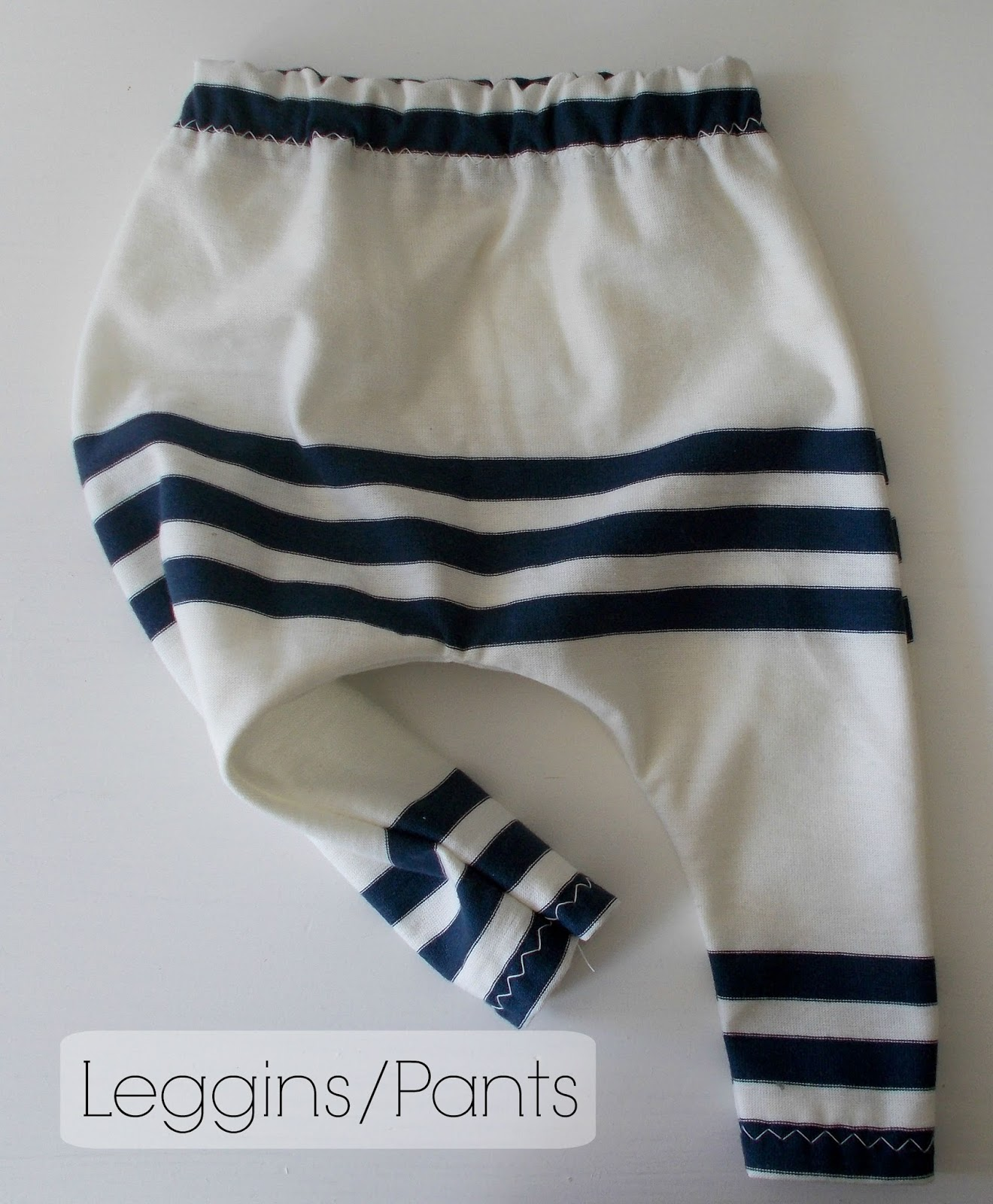 Blue stripes baby harem pants