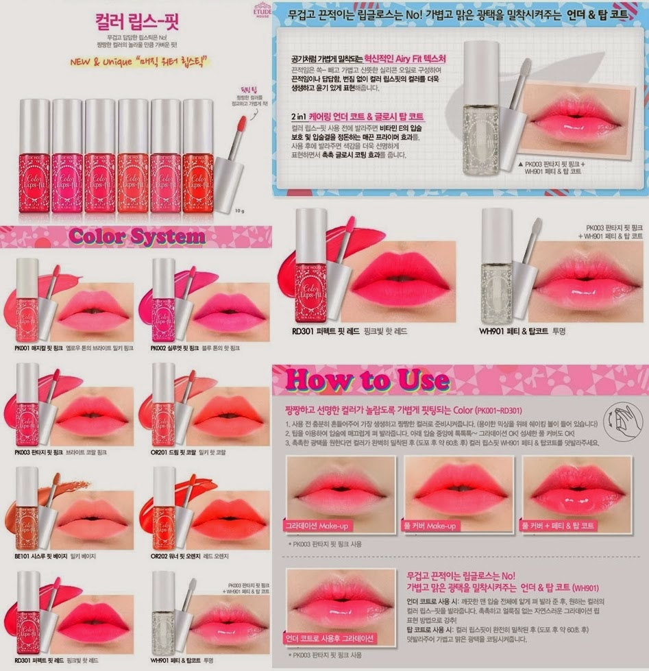 Review : Etude House Color Lips-Fit - GIRLSWEETHINGS