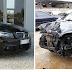 Carros na Inglaterra: Mercedes e BMW usadas. Carros no Brasil: Kia Sportage batida